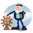 Stock Vector: Old sailor