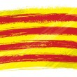 Vector de stock : Grunge Catalonia flag