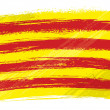 Royalty-Free Stock Векторное изображение: Grunge Catalonia flag