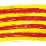 Bandiera di Catalogna grunge — Vettoriale Stock