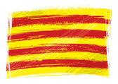 Grunge Catalonia flag — Stock Vector