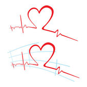 EKG of love — Stock Vector