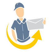 Delivery icon — Stock Vector