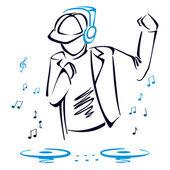 Mixaggio musica dj — Vettoriale Stock