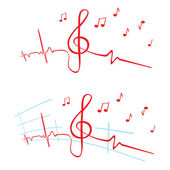 EKG of music — Stock Vector