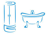 Bathroom symbols — Stock Vector