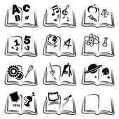 Learning icons — Stock Vector