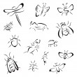 Set of bugs — Stock Vector #45435293