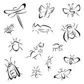 Set of bugs — Stock Vector