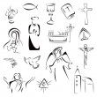Religion icons — Stock Vector #47228441