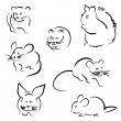 Set of rodents — Stock Vector #47228449