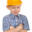 Stock Photo: Boy in construction helmet