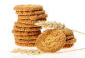 Delicious oatmeal cookie isolated on white background — Stock Photo
