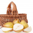Apples and pears on the white — Stock Photo
