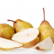 Ripe pear on a white background — Stock Photo