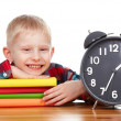 Child and clock, time concept — Lizenzfreies Foto