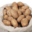 Bag With Potatoes - Stock Photo