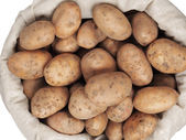 Potatoes in a bag — Stock Photo