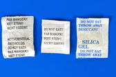 Dessicant, silica gel — Stock Photo