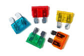 Car blade type fuses — Foto de Stock