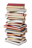 Isolated books stack — Stock Photo