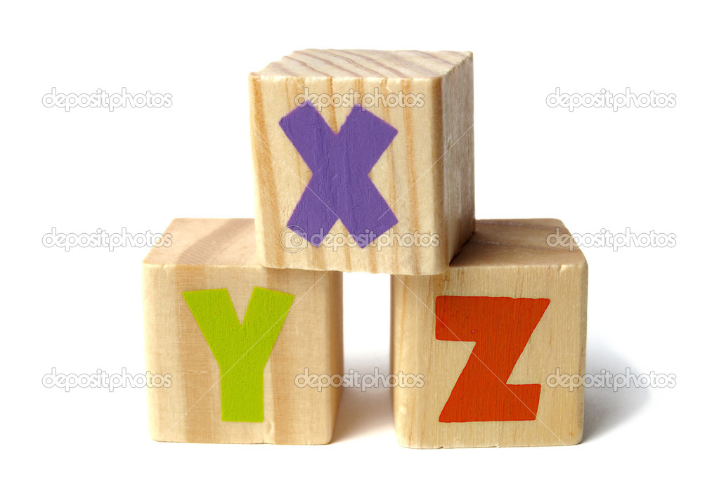 Wooden blocks with XYZ letters — Stock Photo © phodopus #43705981
