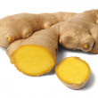 Ginger root on white — Stock Photo #45496821