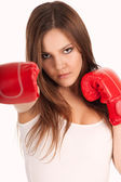 Female Boxer — Stock Photo