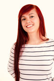 Smiling teen girl looking at the camera — Stock Photo
