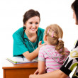 Young girl at the doctor — Stock Photo #45184121