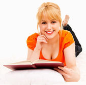 Student girl with book — Stock Photo