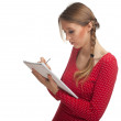Young woman with notebook — Stock Photo #4877943
