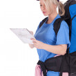Female tourist with map — Stock Photo #6129138