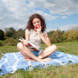 Reading young woman — Stock Photo #7094726