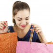 Smiling shopping girl — Stock Photo #9938663