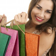 Smiling shopping girl — Stock Photo #9939107