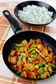 Chicken meat with vegetables — Stok fotoğraf