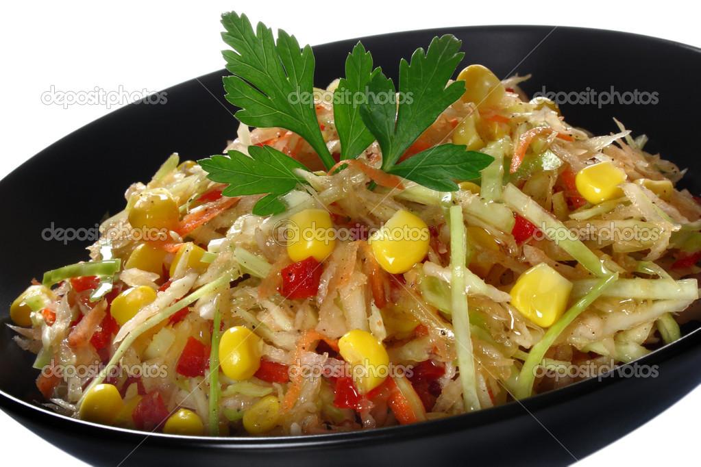 Рецепт салат из капусты и болгарского перца