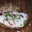 Sandwich with cottage cheese and radish — Stock Photo #20632211