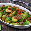 Brussels sprouts with bacon — Stock Photo #21412543
