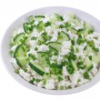 Cottage cheese with cucumber and chives — Stock Photo #24402209