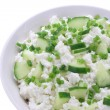 Cottage cheese with cucumber and chives — Stock Photo #24402331