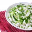 Cottage cheese with cucumber and chives — Stock Photo #24402347