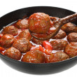 Pork meatballs in tomato sauce — Stock Photo #34213115