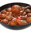Pork meatballs in tomato sauce — Stock Photo
