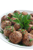 Fried pork meatballs — Stock Photo