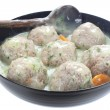 Meatballs of pork and rice with dill sauce — Stock Photo