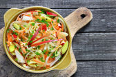 Salad with leek — Stock Photo
