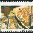 Stamp printed by Egypt Map — Stock Photo