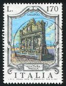 Antique Fountain Gallipoli — Stock Photo